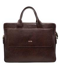 Портфель кожаный Desisan 1348-019 коричневый флотар