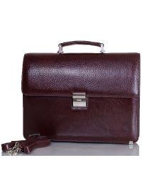 Портфель кожаный Desisan 2005-019 коричневый флотар