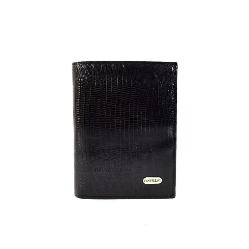 Портмоне кожаное CANPEL 505-8 черный лазер