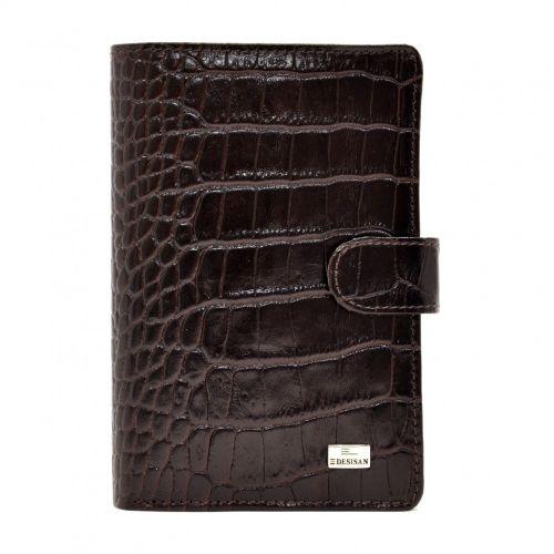Портмоне кожаное Desisan 081-19 коричневый кроко