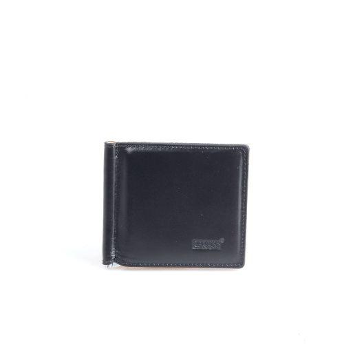 Зажим кожаный GRASS 534-1 черный гладкий