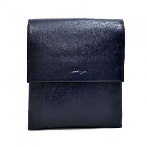 Барсетка мягкая кожаная KARYA 0542-44 синий флотар