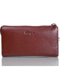 Клатч мужской кожаный KARYA 0701-9 рыжий флотар