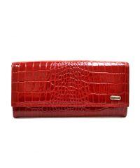 Кошелек женский кожаный CANPEL 2030-142 красный кроко лак
