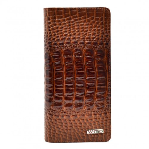 Кошелек женский кожаный Desisan 321-587 рыжий кроко лак