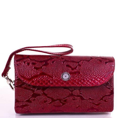 Кошелек женский кожаный KARYA 1121-019 красный узор