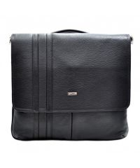 Портфель кожаный Desisan 1337-01 черный мелкий флотар