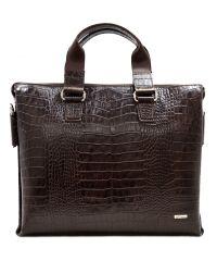 Портфель кожаный Desisan 1341-19 коричневый кроко