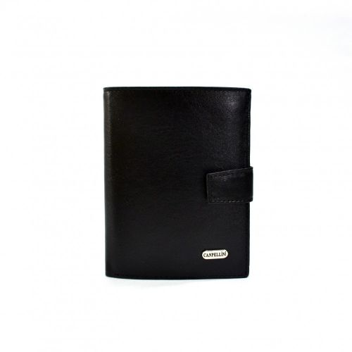 Портмоне кожаное CANPEL 506-1 черный гладкий