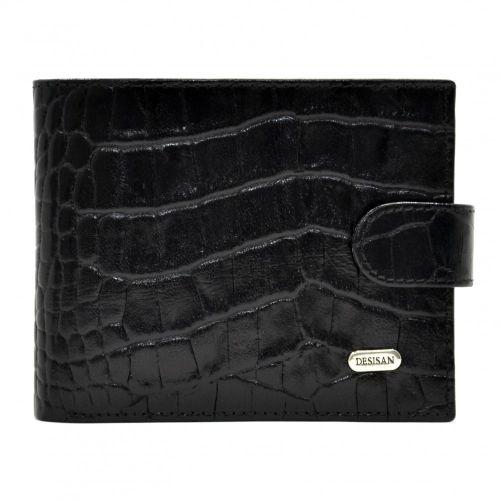 Портмоне кожаное Desisan 080-11 черный кроко