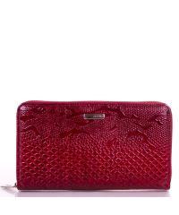Кошелек женский кожаный KARYA 1072-019 красный узор
