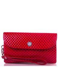 Кошелек женский кожаный KARYA 1121-122 красная капля