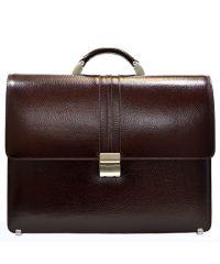 Портфель кожаный Desisan 317-019 коричневый флотар