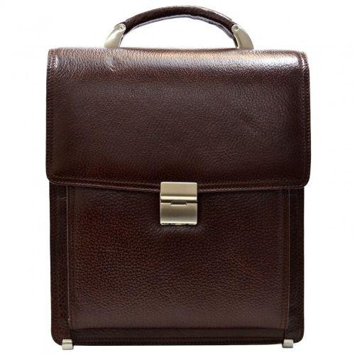 Портфель кожаный Desisan 5009-019 коричневый флотар