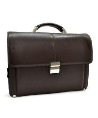 Портфель кожаный KARYA 0229-39 коричневый флотар