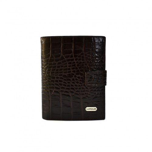 Портмоне кожаное CANPEL 506-11 коричневый кроко