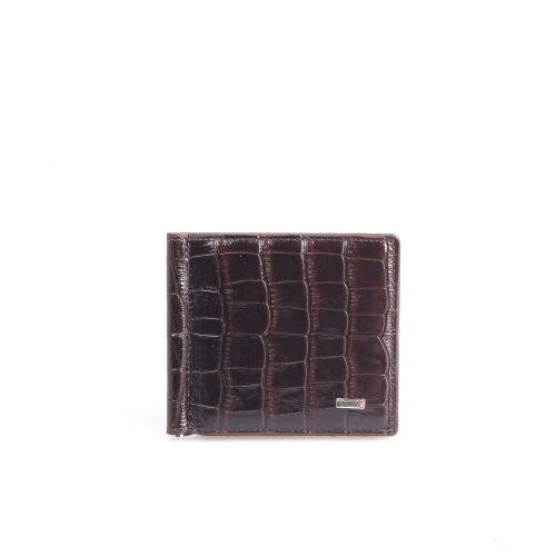Зажим кожаный GRASS 534-30 коричневый кроко