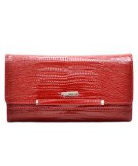 Кошелек женский кожаный Desisan 724-131 красный лазер