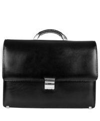 Портфель кожаный Desisan 205-1 черный гладкий