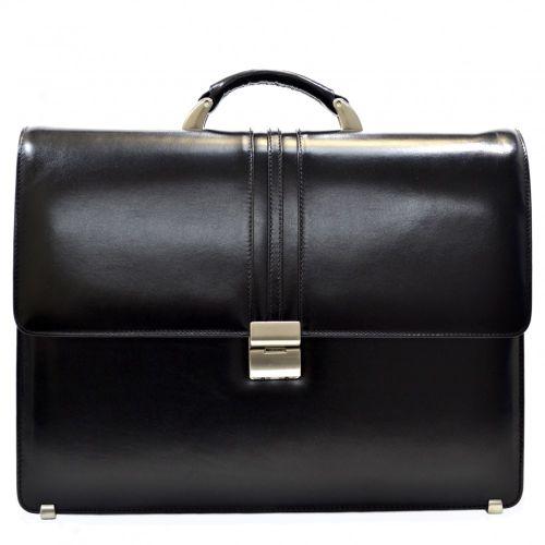 Портфель кожаный Desisan 317-1 черный гладкий