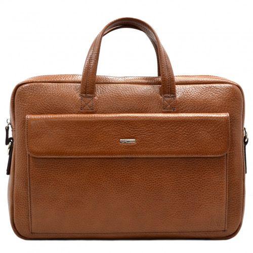 Портфель кожаный Desisan 340-015 рыжий флотар