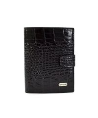 Портмоне кожаное CANPEL 506-2 черный кроко