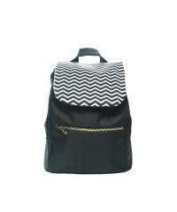 Черный рюкзак с зигзагами small Р27