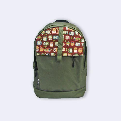 Зеленый рюкзак с совами Р38