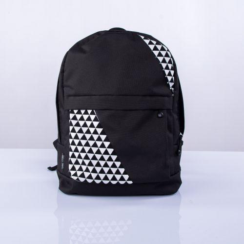 Черный рюкзак с треугольниками mini Р4