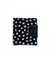 Черный кошелек с лапками К16