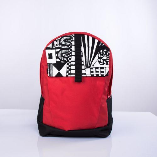 Черно-красный рюкзак с орнаментом Р6