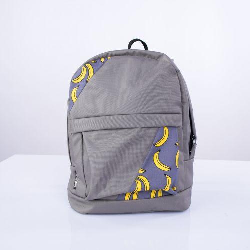 Серый рюкзак с бананами mini Р13