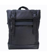Черный рюкзак Rolltop medium TWINSSTORE Р67