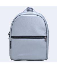 Серебряный кожаный рюкзак small TWINSSTORE Р58