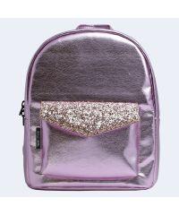Розовый кожаный рюкзак brilliant TWINSSTORE Р79