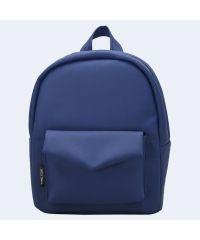 Синий кожаный рюкзак TWINSSTORE Р61