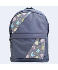 Серый рюкзак с котами mini TWINSSTORE Р62