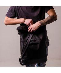 Черный рюкзак Rolltop TWINSSTORE Р45