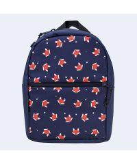 Детский синий рюкзак с лисичками TWINSSTORE Р73