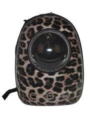 Рюкзак-переноска с иллюминатором U-Pet для котов и небольших собак Леопард