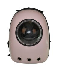 Рюкзак-переноска с иллюминатором U-Pet для котов и небольших собак розовый