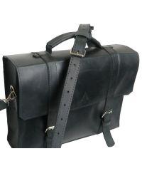 Мужской кожаный портфель M-01 черный