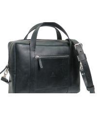 Мужской кожаный портфель M-02 черный