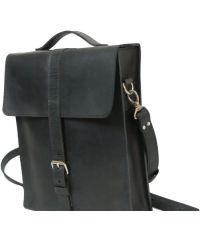 Мужская кожаная сумка M-03 черная