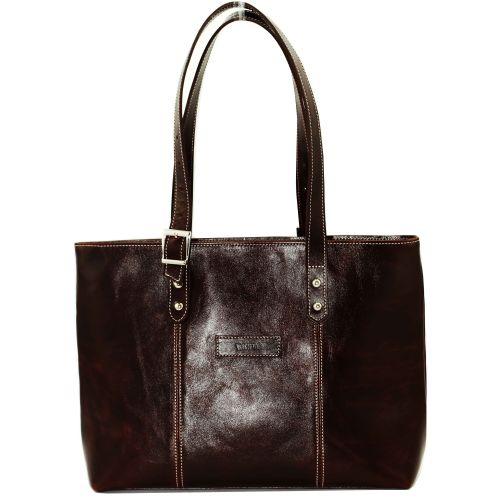 Женская кожаная сумка VATTO Wk1 AL400 коричневая