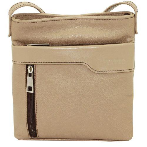 Женская кожаная сумка VATTO Wk13 Fl5N1 бежевая
