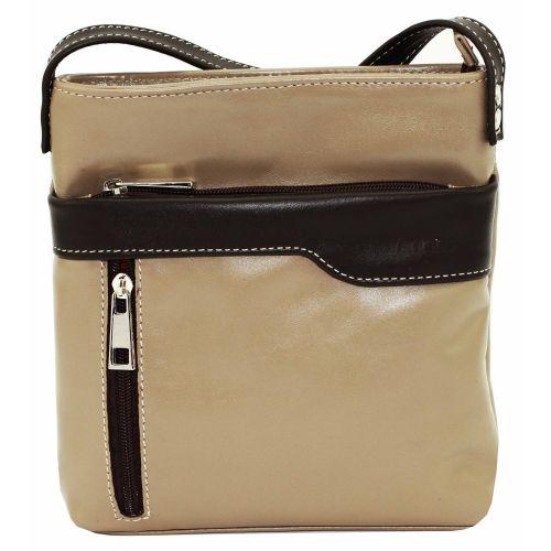 Женская кожаная сумка VATTO Wk13 N3Kaz400 бежевая