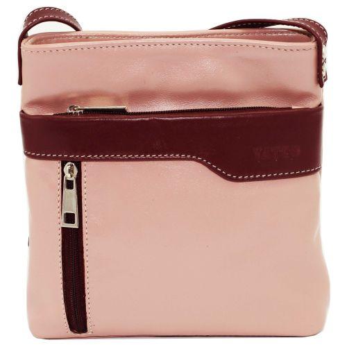Женская кожаная сумка VATTO Wk13 N6.5 розовая