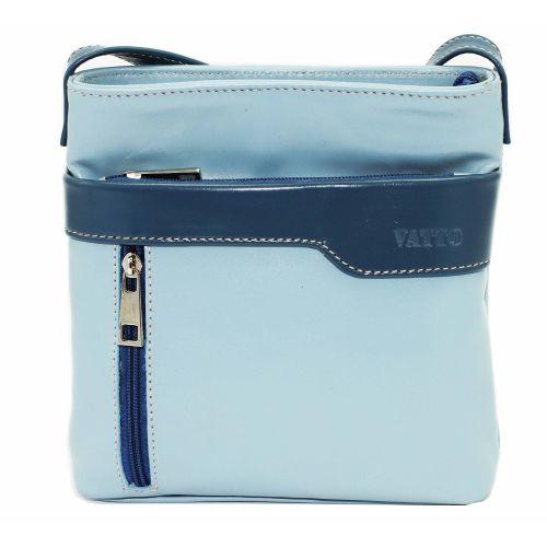 Женская кожаная сумка VATTO Wk13 N7,2 голубая