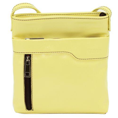 Женская кожаная сумка VATTO Wk13 N8 желтая